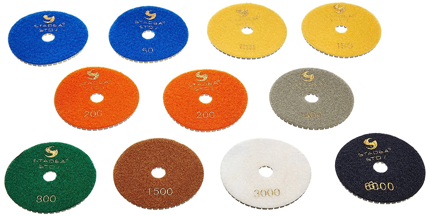 "4"" Wet/Dry Polishing Pads Best Value Set of 11 PCS"
