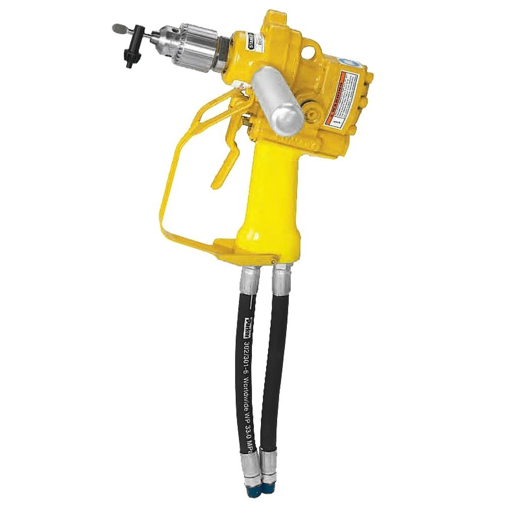 """Stanley DL07 1/2"""" Hydraulic Underwater Drill (Purchase Includes Assist Handle & Hose Whips-Excludes Couplers)"""