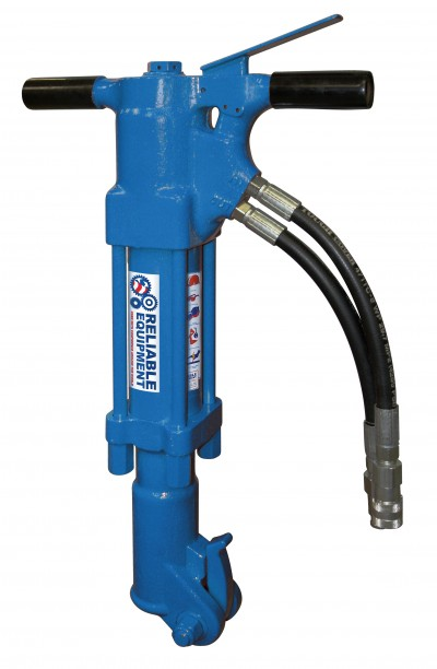 """Reliable Equipment REL-45BR Underwater Hydraulic 1-1/4"""" Shank Medium Duty Breaker (Includes Hose Whips & Couplers)"""