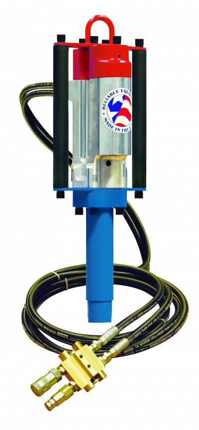 Reliable Equipment REL-GRD-1 Hydraulic Ground Rod Driver (Includes Hose Whips and Couplers)